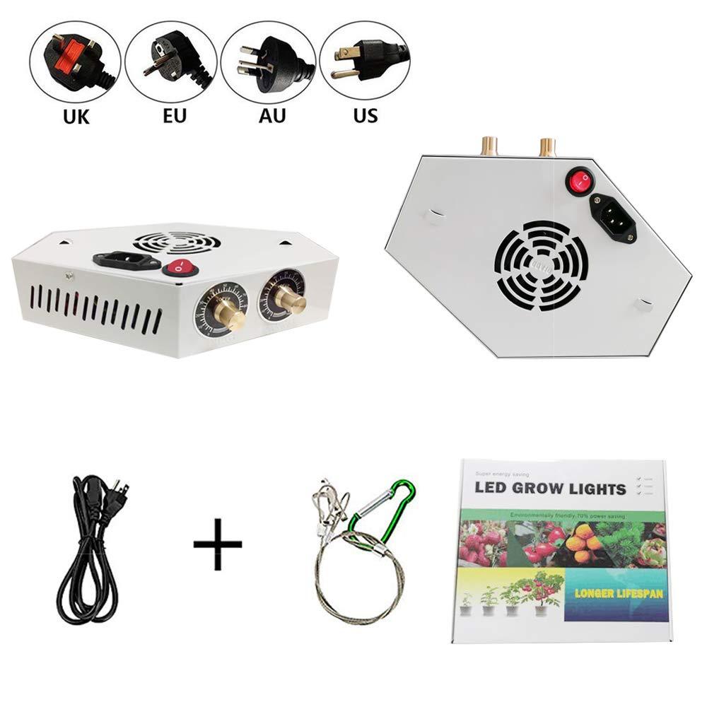 Decdeal L/ámpara LED de Plantas Ajustable con Luz y Cultivo de Plantas para Interior//Invernadero//Caja de Cultivo Vegetal Grow Light Reflector 1000W