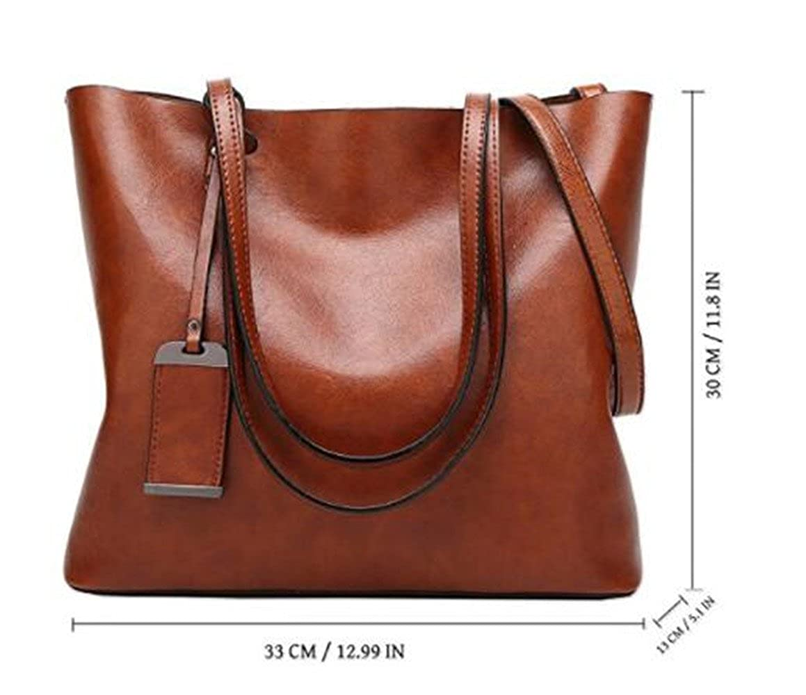168174f8ff Amazon.com  Womens Tote Bag For Small Laptops Top Handle Handbags Soft  Leather Work Bag  2 Size  Shoes