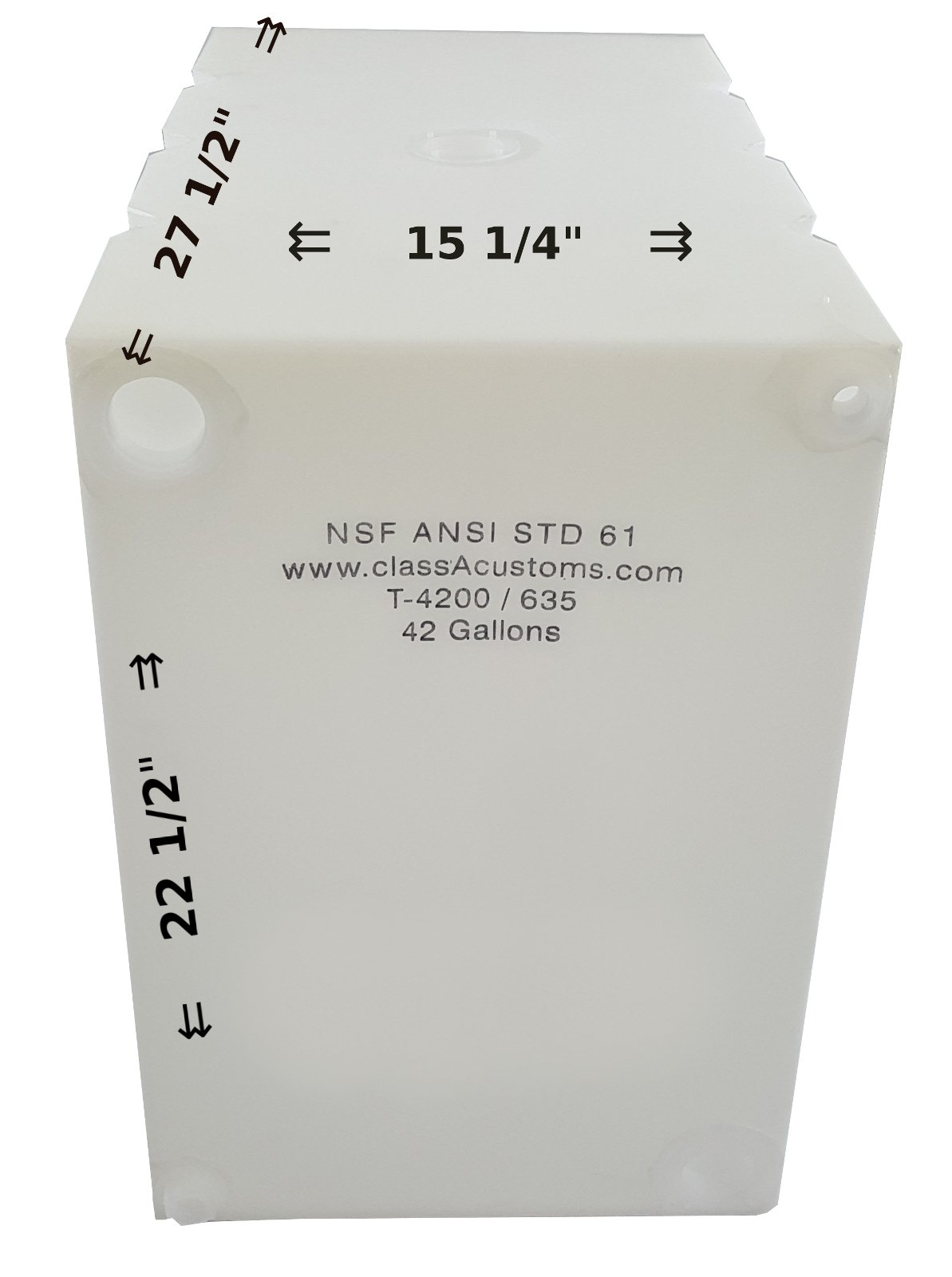 Class A Customs 42 Gallon Water Holding Tank NSF Approved T-4200/635 by Class A Customs
