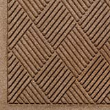 Andersen 221 Waterhog Fashion Diamond Polypropylene Fiber Entrance Indoor/Outdoor Floor Mat, SBR Rubber Backing, 4' Length x 3' Width, 3/8'' Thick, Medium Brown