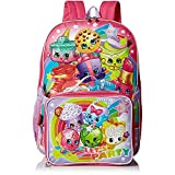 Shopkins Girls Backpack with Lunch, Multi