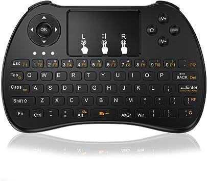 Mini teclado, tripsky H9 – Mando a distancia inalámbrico Mini teclado, portátil con touchpad Ratón para Android TV Box, Windows PC, Pad, Raspberry Pi, HTPC, IPTV, Xbox 360, PS3, PS4 (negro) …: