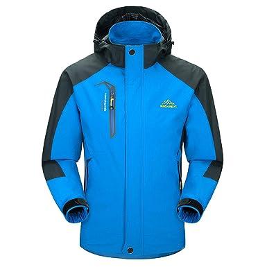 Amazon.com: Waterproof Jacket Mens Raincoats Outdoor Casual Hooded ...