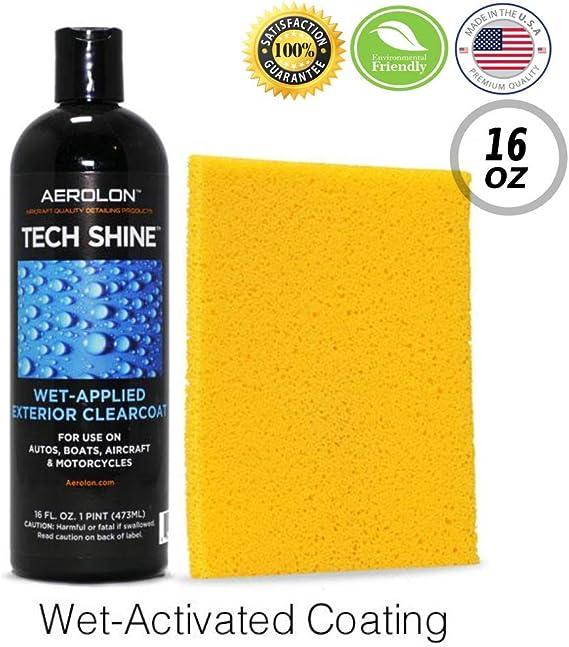 Aerolon Tech Shine (16 Ounce) Fast Wet-Applied Polymeric Car Wax Coating