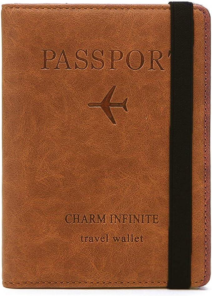 Custodia per passaporto, copertina per passaporto con blocco RFID, supporto per passaporto per donna e uomo, custodia da viaggio per documenti di viaggio