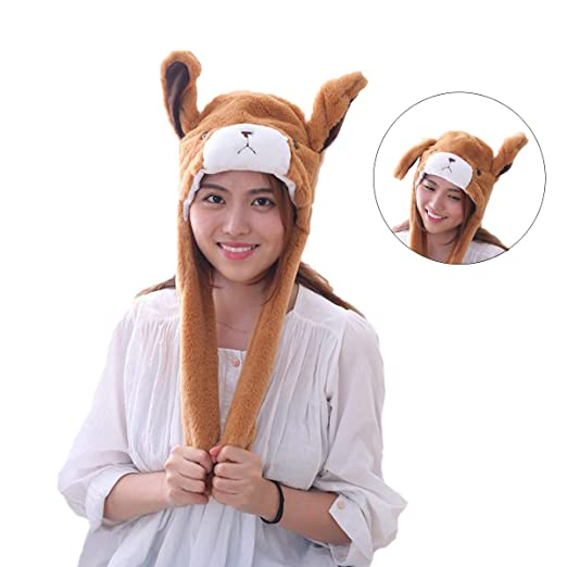 HYYER Bear Hat Cap Animal with Airbag Jumping Ear Plush TIK Tok Gift DOUYIN 1d7398b16b91