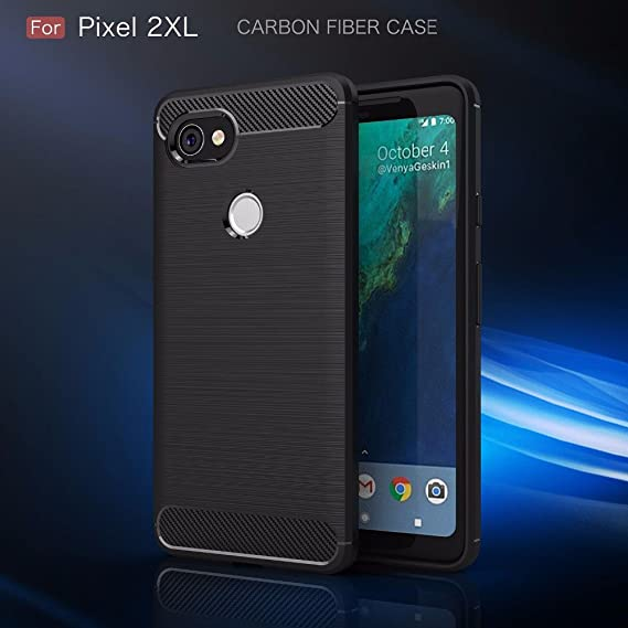 info for e4fbb d7b5b Google Pixel 2 XL Case - Ultra Light Slim Shockproof Silicone TPU Brushed  Grip Protective Cover Skin Waterproof Wireless Charging Rugged Armour  Carbon ...