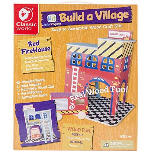 Classic Build A Village Firehouise Building Kit (Kit Village)