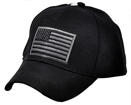 b88883d2ede US Army American Flag Embroidered Operator Military Baseball Hat Cap (Black)