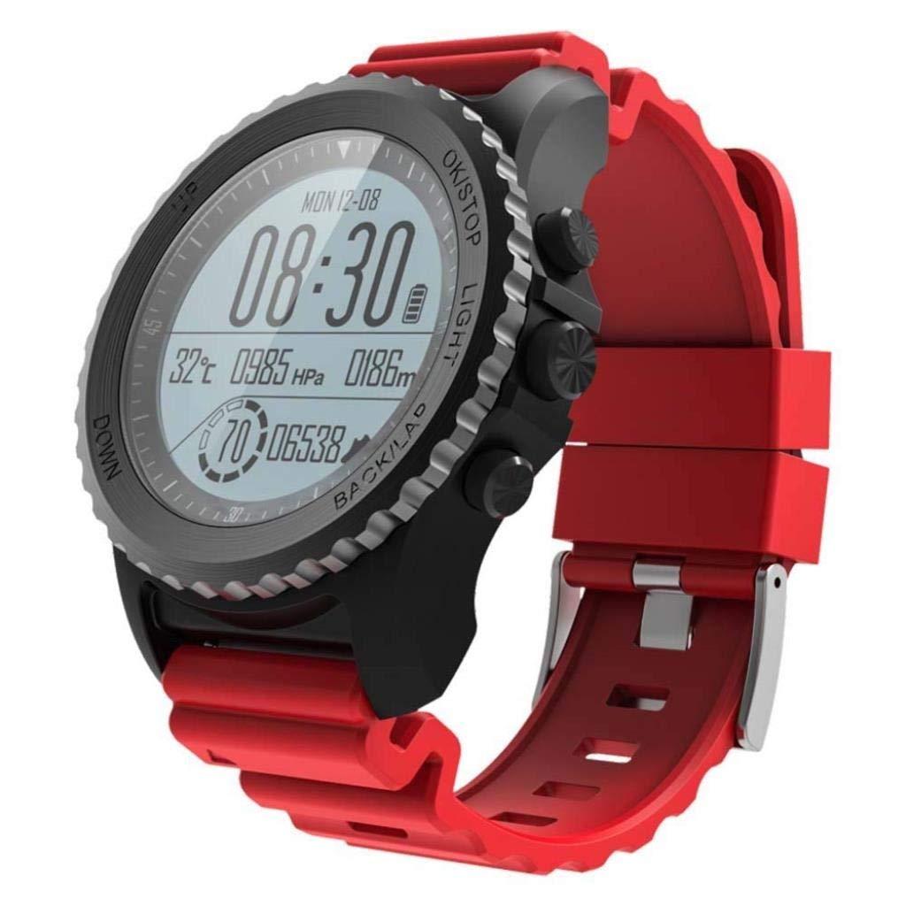 スマートウォッチgps携帯電話支払い運動モニターip67防水カロリーランニング屋外スポーツ腕時計スマートブレスレット B07R66H2RB  赤