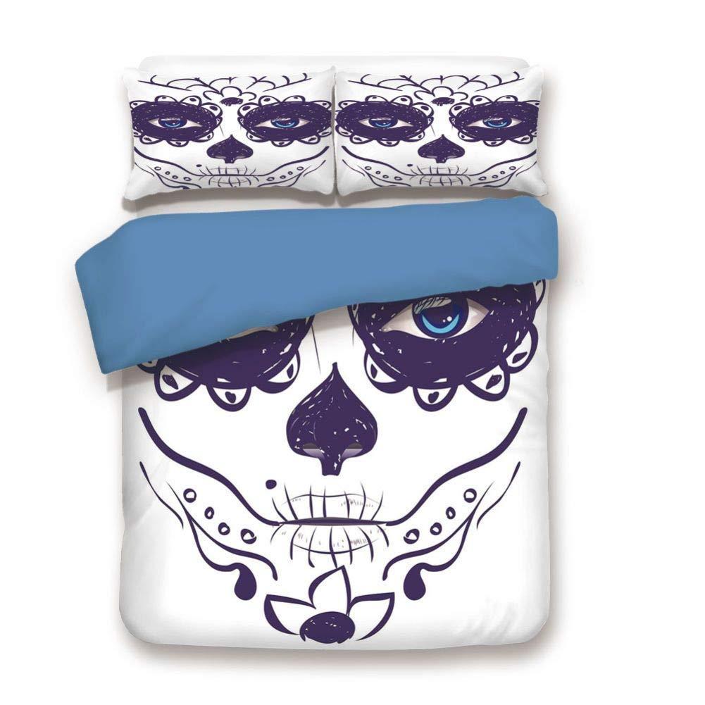 掛け布団カバーセット 装飾寝具3点セット 枕カバー2枚付き マルチカラー クイーン BD2-107-4980C14-228*228 B07QGVZP1C Color#14 クイーン