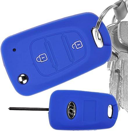 Auto Schlüssel Hülle Silikon Schutz Cover Blau Für Kia Elektronik