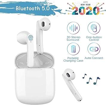 Auricular Bluetooth 5.0, micrófono y Caja de Carga incorporados, reducción del Ruido estéreo 3D HD, para Auriculares Ios/Android/Samsung/Huawei/Xiaomi: Amazon.es: Electrónica