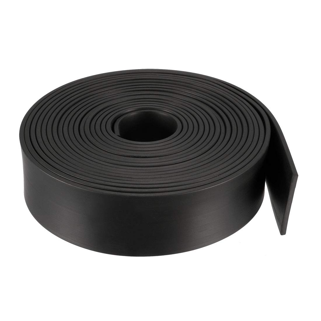 sourcing map Solid Rectangle Rubber Seal Strip 10mm Wide 10mm Thick 1 Meter Long Black