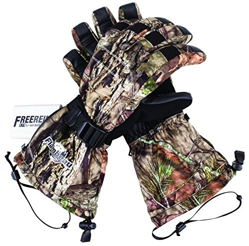 Flambeau 3.7V Rechargeable Heated Gloves Kit-Synthetic Palm, Mossy Oak Break-Up Country Camo, (Heated Hunting Gloves)