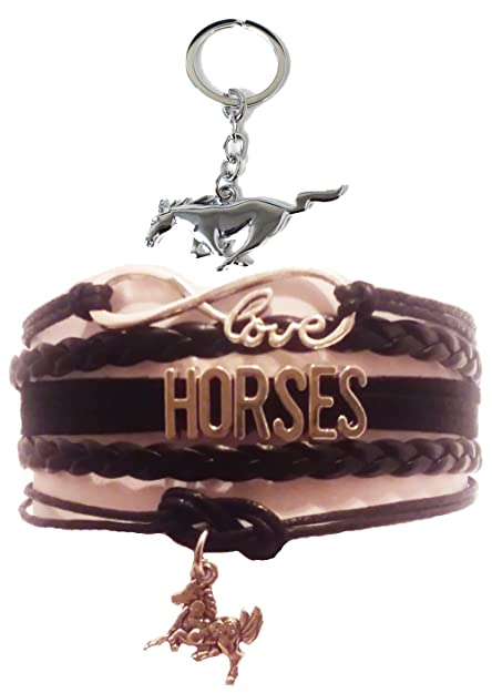 Amazon.com: geauxdat Collectibles caballo pulsera para niñas ...
