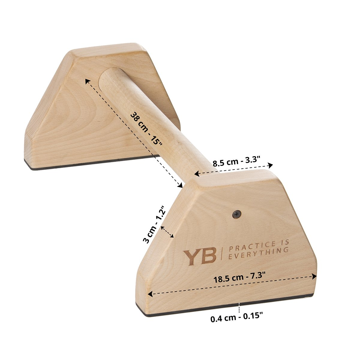 YOGABODY Birch Wood Parallettes (Set of 2)   Beautiful, Smooth, Non-Slip Yoga & Gymnastic Training Tool for L-Sits, Lolasana, Handstand Pushups, Jump Backs & More by YOGABODY (Image #3)
