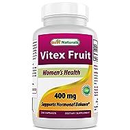 Best Naturals Vitex Chasteberry 400 mg 250 Capsules