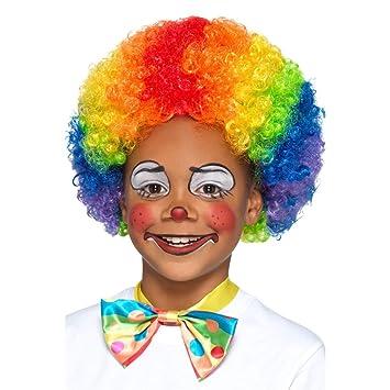 Amakando Peluca Infantil Colorida en Estilo Afro / Peluca ...