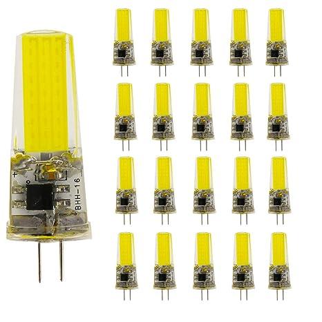 G4 5 W LED Lámpara Blanca fría 6000 K COB bombillas (Gel de sílice)