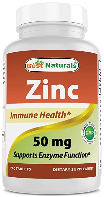 Amazon Com Best Naturals Zinc Supplement As Zinc Gluconate 50mg 240