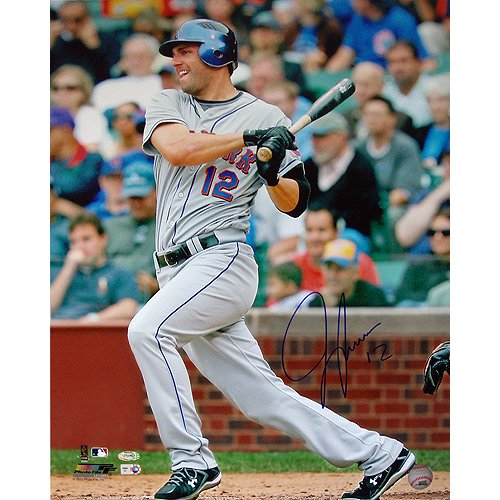 (Steiner Sports MLB New York Mets Jeff Francoeur Grey Jersey Swing Vertical 16 x 20-inch Photo)