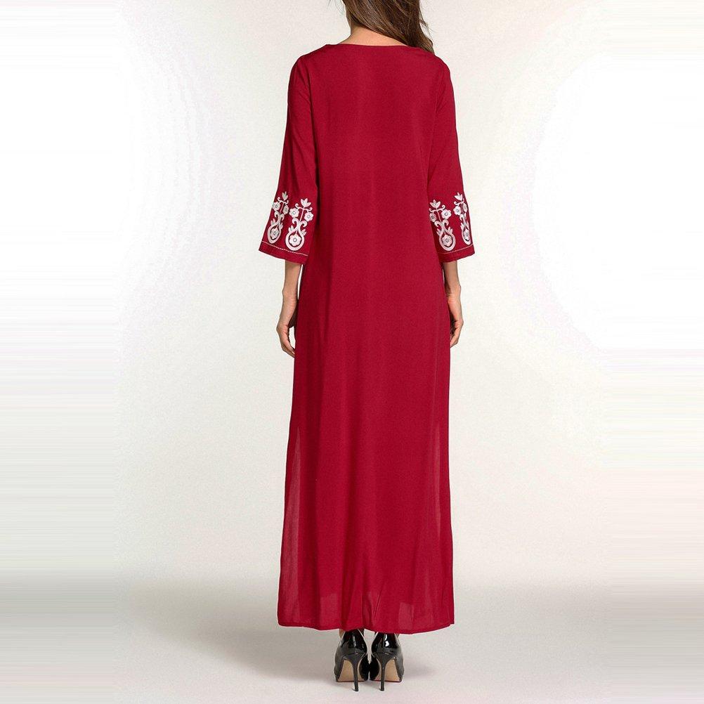 Zhuhaitf Moda Modesta Largo Vestido árabe Vestido de Fiesta Abaya Ropa Islámica Señoras Niñas Caftanes / Kaftan JALABIYA: Amazon.es: Ropa y accesorios