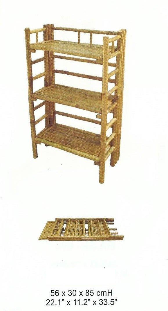 Bambusregal Schuhregal Pflanzregal Bambusmöbel Küchenregal Wandregal ...