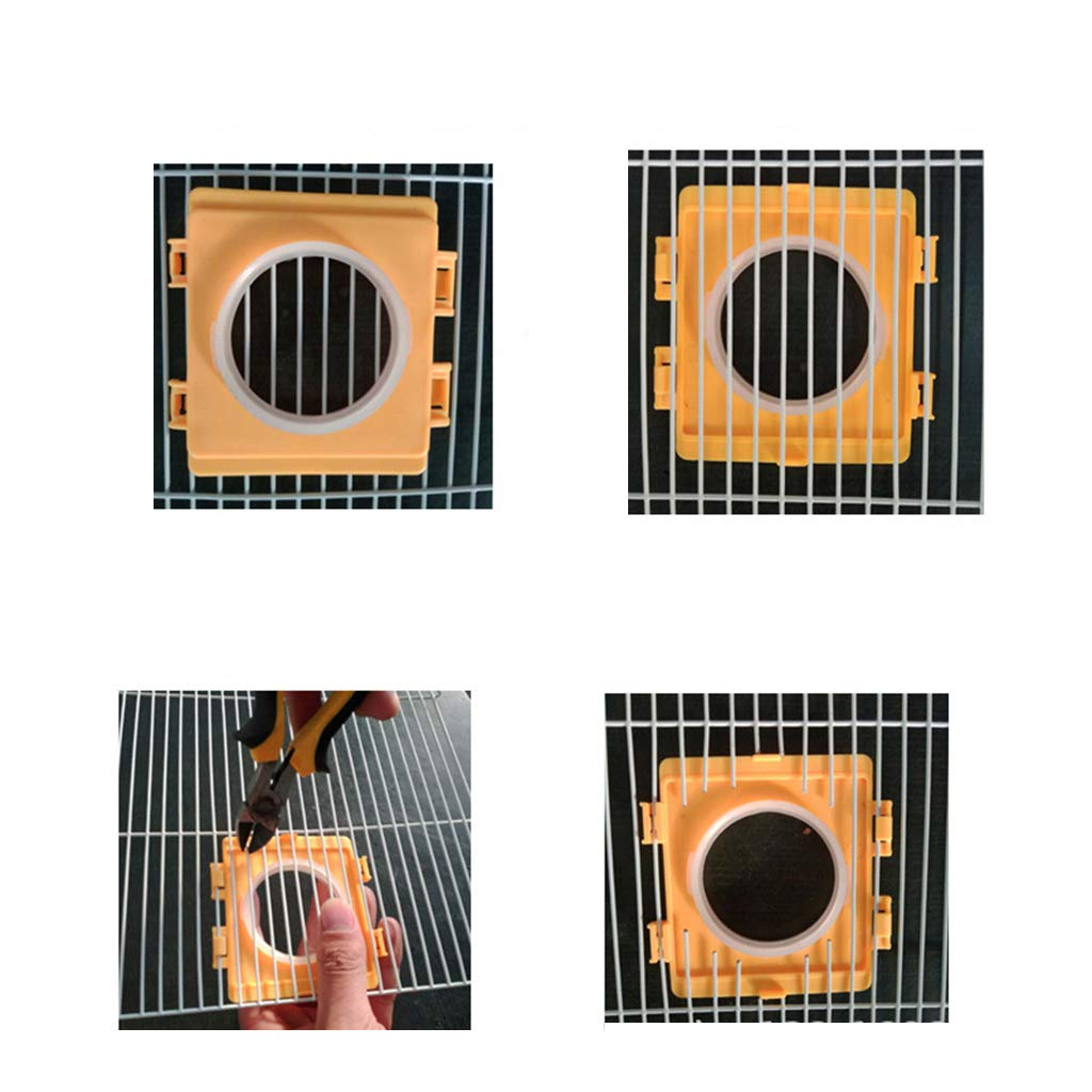 bluederst SimpleLife Hamster Cages Tunnel Port Outside Plate External Pipe Mouth Baffle Hamsters Toy,Random color