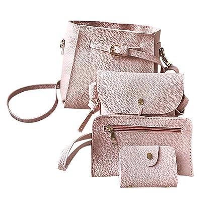iShine 4PCS Set Women Simple Korean Style Fashion Trend All-Matched Shoulder  Bag Travel Handbag 464cb7991fdd1