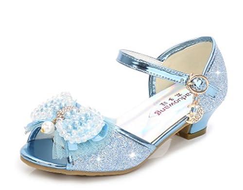YOGLY Sandalias de Niña Verano Sandalias de Tacón Alto Niñas Zapatos de  Tacón Lentejuelas de Perlas Fantasía Zapatos Disfraz de Princesa Fiesta   Amazon.es  ... 300d64ff04d9