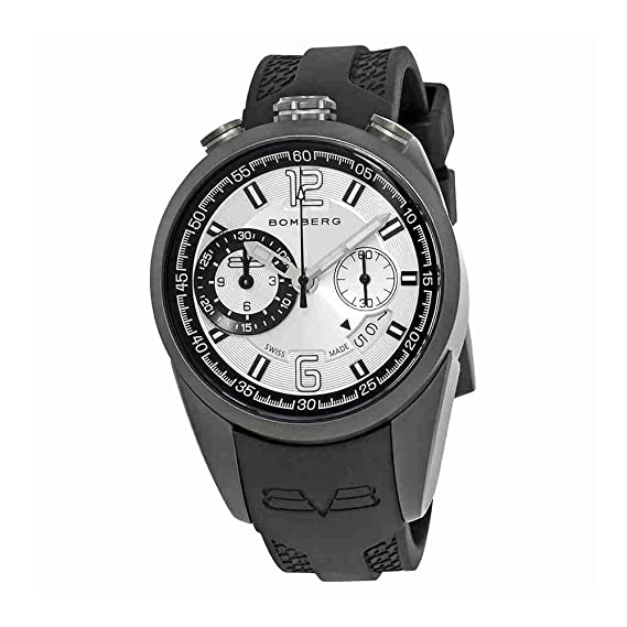 2d90c3327 Bomberg 1968 Chronograph Silver Dial Mens Watch NS39CHPGM.0071.2 ...