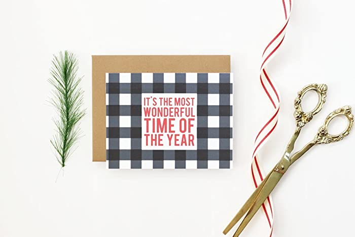 amazon com personalized christmas cards custom buffalo check