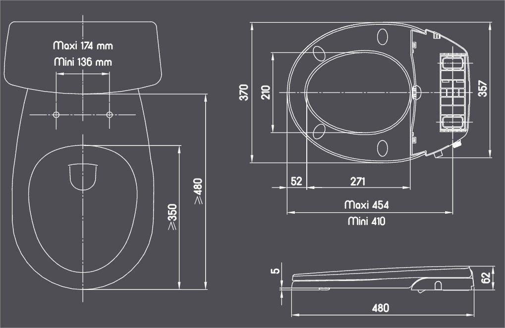 Gelco Design 707490 Abattant Lavant sans /électricit/é Cleanea Blanc
