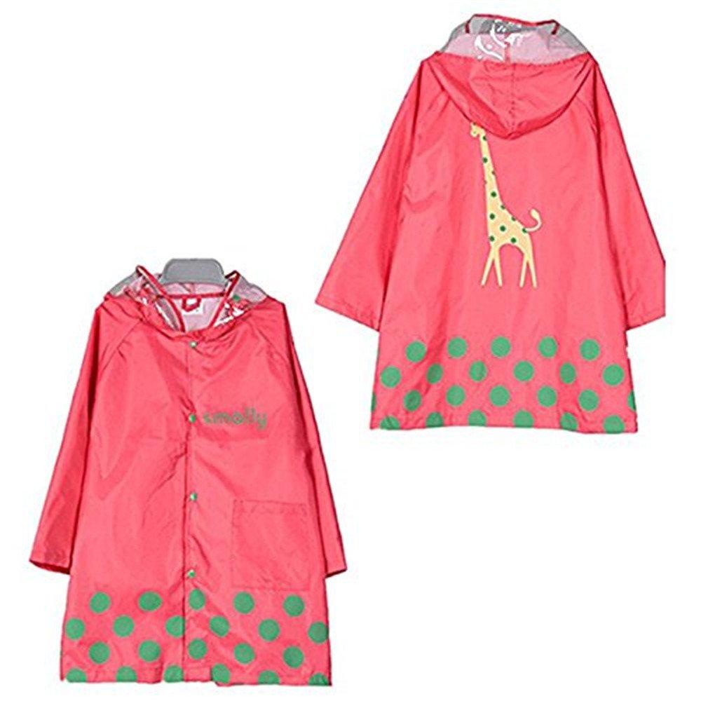 Cartoon Waterproof Children's Raincoat Kids Portable Raincoat Rain Poncho with Hoods and Sleeves