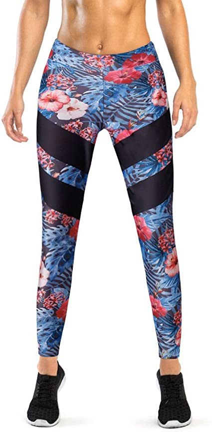 S, Blau Damen Leggings Morbuy Sport Gym Yoga Workout Pants Basic Fitness Hohe Taille Jogginghose Trainingshose Skinny Hosen Hose Sporthose