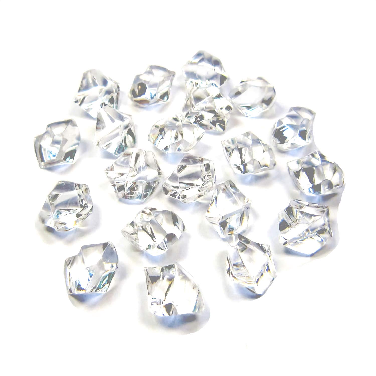 Bogo Arty Acrylic Crystals Ice Rocks Clear Gem Stones for Vase Fillers, Table Scatter, Party Favor, Wedding Decoration, Arts Crafts (Approx 1000 Pieces, 2/4 inch)