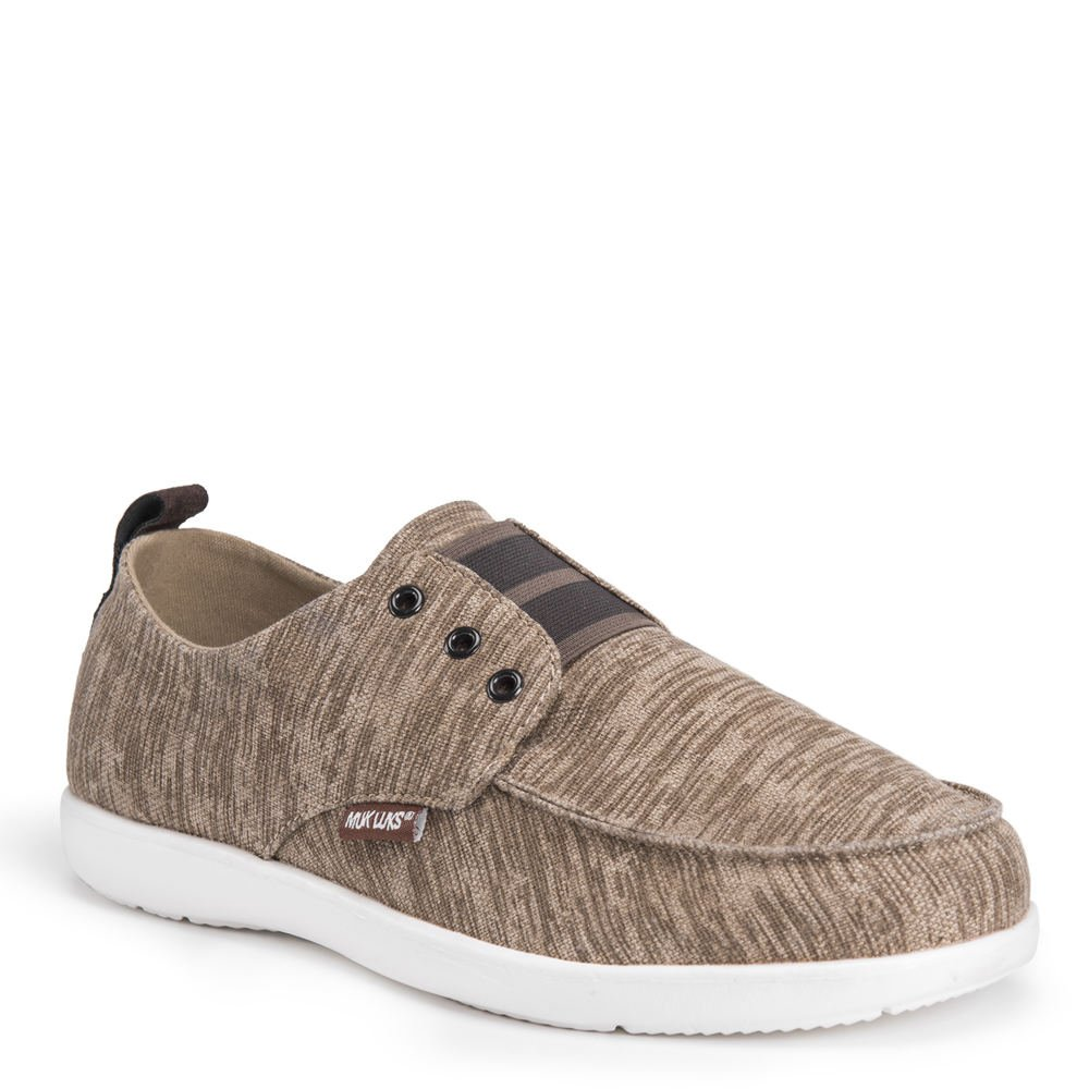 MUK LUKS Men's Billie Shoes Sneaker, Natural, 11 M US