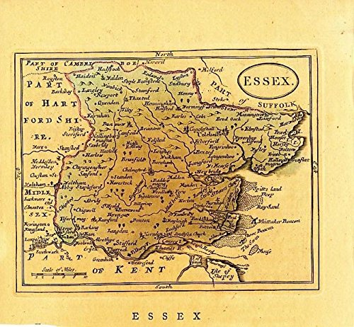 - Essex ca. 1785 antique England English County map
