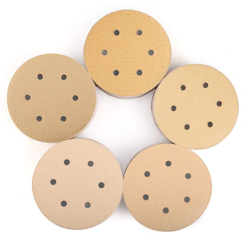 6 Inch 6 Holes Sanding Discs, 100PCS 60 80 120 150 220 Grit Sandpaper Assortment - LotFancy Hook and Loop Random Orbital Sander Paper by LotFancy