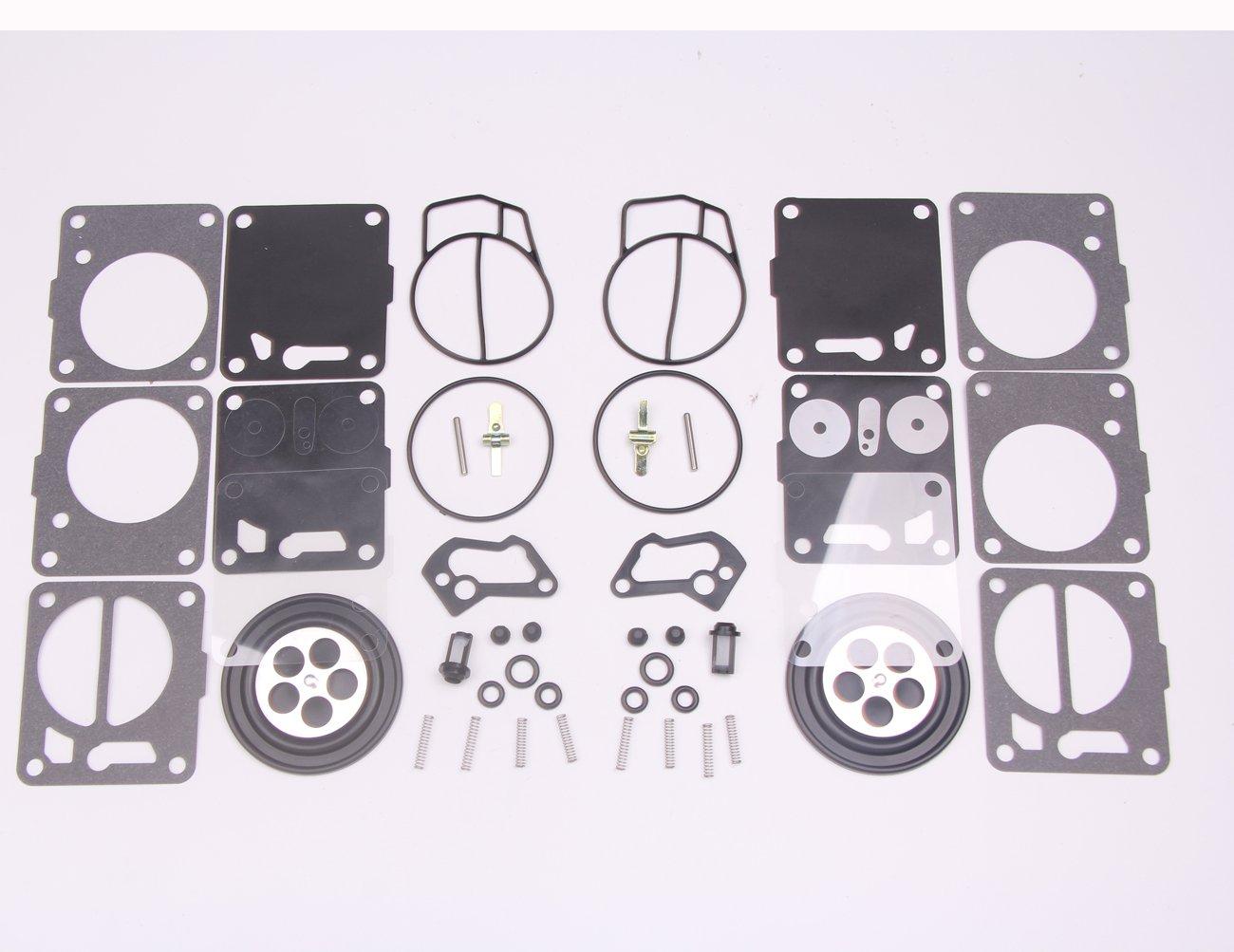 New 2 Sets Twin Carburetor Carb Repair Rebuild Kits For Mikuni Seadoo Gtx Fuse Box 50 717 720 787