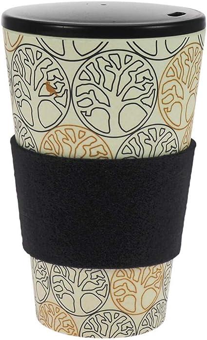 Taza de café para llevar de ebos hecha de bambú, con tapón de ...