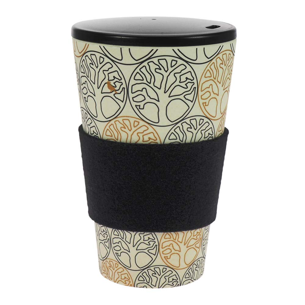 beverage container incl screw cap environmentally friendly   O.L.E. ecologically grip ring coffee mug Loving Birds ebos lucky charm Coffee-to-Go mug bamboo