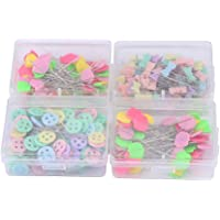 Delaman 300pcs Flower Button Head Pasadores de Costura
