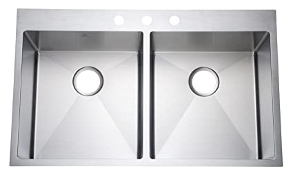 Starstar 36 Inch Top Mount Drop In Stainless Steel Double Bowl