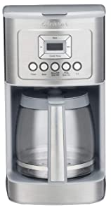 Cuisinart DCC-3200 14C Glass Carafe with Stainless Steel Handle Programmable Coffeemaker, Light Grey