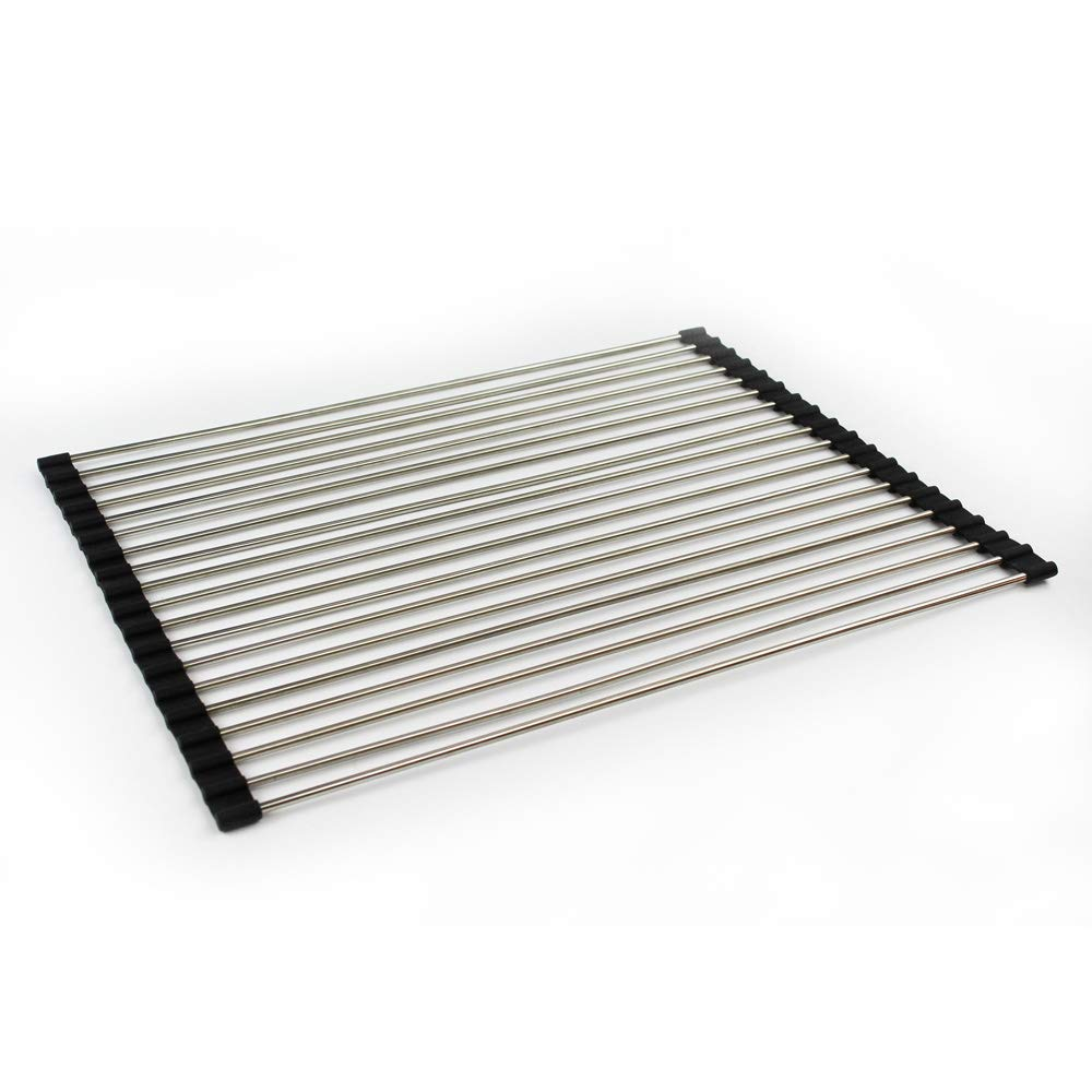 Transolid TRM1518 Roller Mat Trivet, 14.95-in L x 18.39-in W x 0.31-in H, Stainless Steel