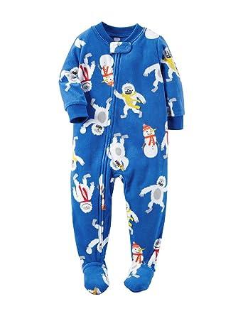 gute Qualität reduzierter Preis Online-Verkauf Carter's Schlafanzug 92/98 Fleece (US Größe 3 t) Einteiler Junge Monster  blau warm Reißverschluss