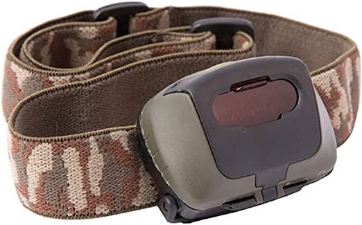 Kombat Tactical Linterna frontal LED militar táctica con filtro rojo camuflaje elástico