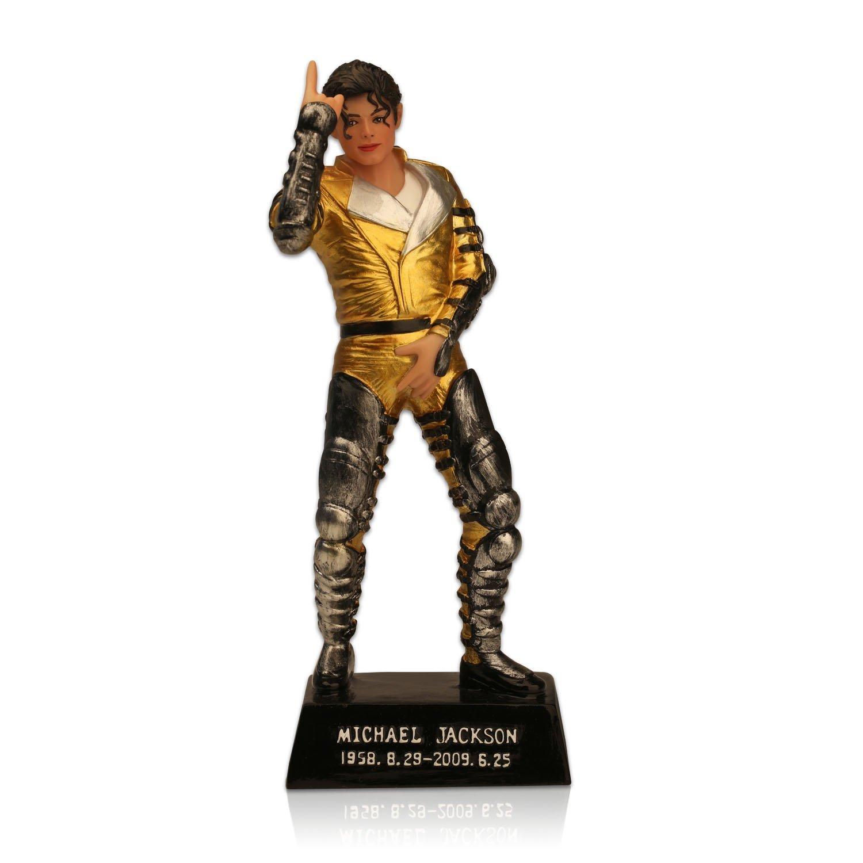 OZUKO Michael Jackson Figura de acci/ón King of Pop Mu/ñeca Memorial Estatua hogar Sala de Estar Escritorio decoraci/ón Escultura Resina